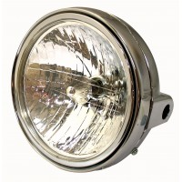 PHARE ROND 180 MM CHROME -HLU7RCH