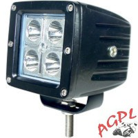 PHARE ADDITIONNEL QUAD-LED 10 W-NOIR-2001-0704