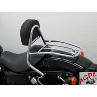 HARLEY DAVIDSON 883 1200 CUSTOM ROADSTER LOW NIGHSTER IRON SPORTSTER-04/15-SISSY BAR CONDUCTEUR + PORTE PAQUET-7233FRG