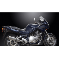 YAMAHA XJ 900 DIVERSION-94/03-PAIRE SILENCIEUX ECHAPPEMENT OVALE INOX 350 mm-DELK
