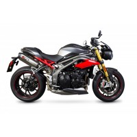 TRIUMPH 1050 SPEED TRIPLE / S / R-16/17-PAIRE DE SILENCIEUX ECHAPPEMENT SERKET INOX SCORPION-76021480