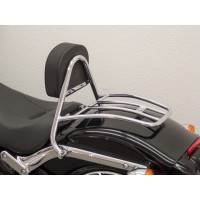 HARLEY DAVIDSON FXSB 1690 BREAKOUT -13/17- SISSY BAR CONDUCTEUR + PORTE PAQUET CHROME -6194FRG