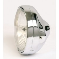OPTIQUE DE PHARE ROND VERRE LISSE 200mm LTD-STYLE - CHROME-6043CH