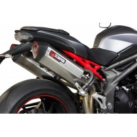 TRIUMPH 1050 SPEED TRIPLE-16/18-PAIRE DE SILENCIEUX ECHAPPEMENT SERKET INOX SCORPION-76021480