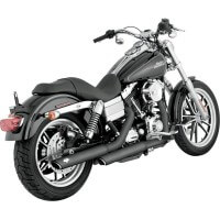 HARLEY DAVIDSON FXD-91/16-SILENCIEUX ECHAPPEMENT VANCE HINES ROUND TWIN BLACK-1801-0405