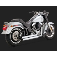HARLEY DAVIDSON FX FL 1340-1450-1584-1690-1800-SILENCIEUX ECHAPPEMENT VANCE HINES BIG SHOTS STAGGERED CHROME-1800-2137