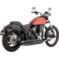HARLEY DAVIDSON FX 1690-1800-12/16-SILENCIEUX ECHAPPEMENT VANCE HINES BIG SHOTS STAGGERED BLACK-1800-2114
