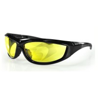 LUNETTES BOBSTER MOTO-SCOOTER-CHARGER SUNGLASSES JAUNE-2610-0690