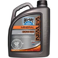 HUILE MINERAL V-TWIN 4 TEMPS 4 LITRES 20W50 BEL RAY-96905-BT4