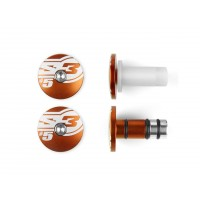 EMBOUTS DE GUIDON S3 Ø14mm - ORANGE - 6190009006