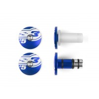 EMBOUTS DE GUIDON S3 Ø14mm BLEU