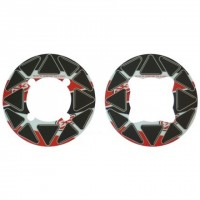 STICKERS DE COURONNE MOTO TRIAL - ROUGE - 60600007