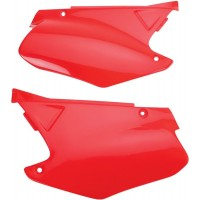 HONDA CR 125-CR 250 R-00/01-PAIRE PLAQUES LATERALES UFO ROUGE-78165631