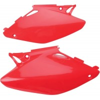 HONDA CR 125-CR 250 R-02/04-PAIRE PLAQUES LATERALES UFO ROUGE-78165731