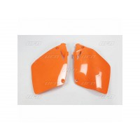 KTM EXC SX 125-200-250-300-380-400-450-520-525-PAIRE PLAQUES LATERALES UFO ORANGE-78526953
