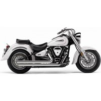 YAMAHA XVS 1100 DRAGSTAR -V-STAR-99/09-SILENCIEUX LIGNE ECHAPPEMENT SLASH-DOWNS CHROME COBRA-1810-0404