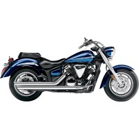YAMAHA XVS 1300 MIDNIGTHSTAR-07/14-SILENCIEUX LIGNE ECHAPPEMENT SLASH-DOWNS CHROME COBRA-1810-0877