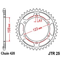 APRILIA 125 RS4 -11/17 - COURONNE 60 DENTS- JTR25.60
