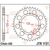 COMPATIBLE 50 RX / SX / SENDA / RCR / SMT - COURONNE 45 DENTS - JTR1131.45