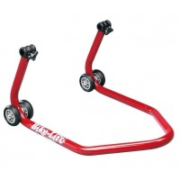 BEQUILLE ARRIERE BIKE LIFT UNIVERSELLE ROUGE LIVREE SUPPORTS CAOUTCHOUC-892040
